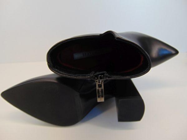 Botki Bravo Moda 2157 skóra czarne+brokat