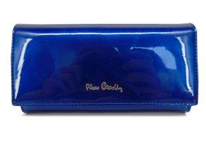 Portfel damski Pierre Cardin skóra lakierowana granatowy