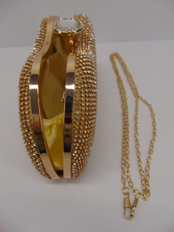 Torebka damska wieczorowa złota