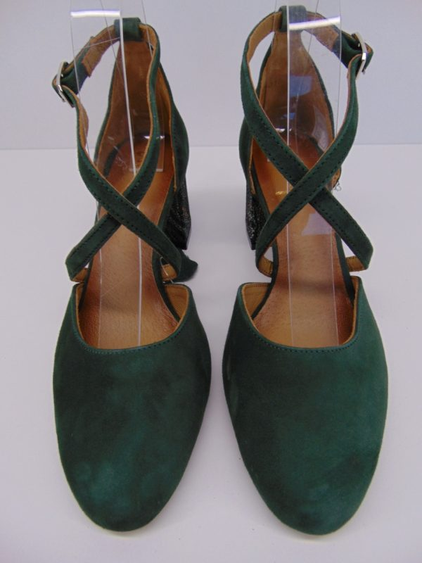 Czółenka Maciejka 04070-09 skóra zamsz zielone