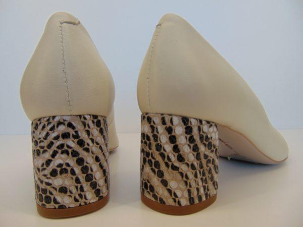 Czółenka Bravo Moda 1692 beż panna+zebra złoty