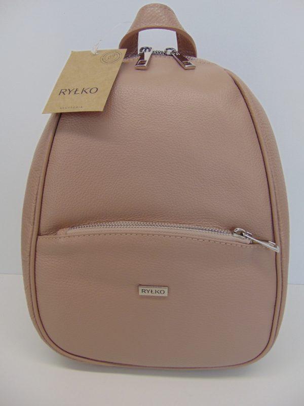 Plecak Ryłko R40255TBT skóra lico różowy