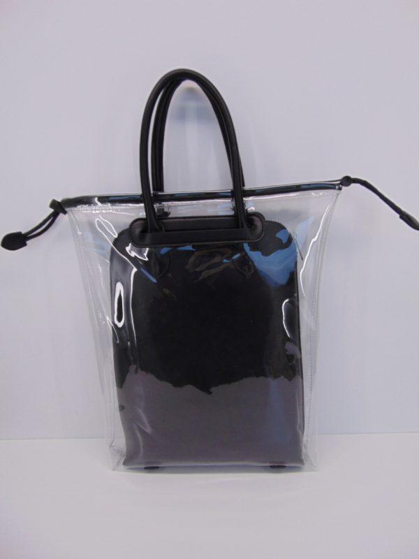 Torebka FEMESTAGE przeźroczysta czarna
