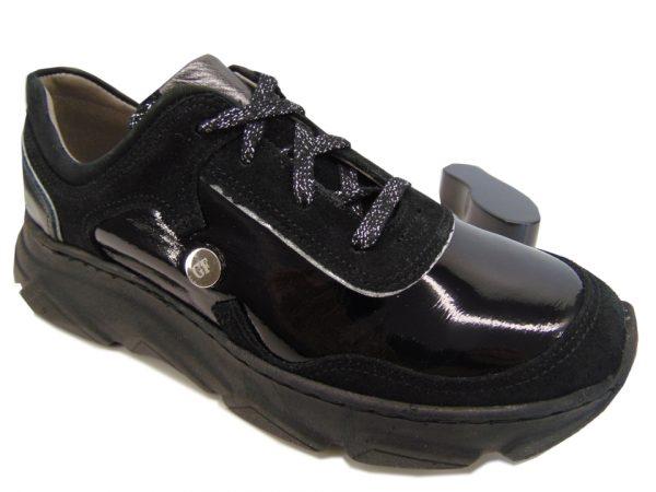 Półbuty sportowe Rammit 1435 L114/LD03/W03 czarny lakier