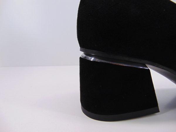 Czółenka Kati 6041 skóra zamsz czarny