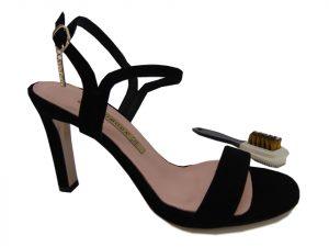 Sandały Bravo Moda 1858 skóra lico czarne