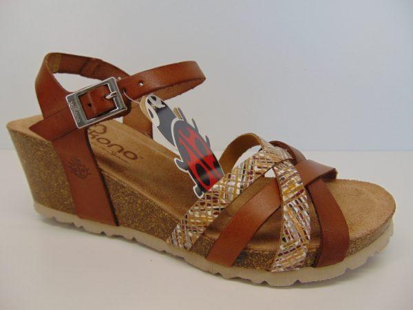 Yokono CADIZ 071 hiszpańskie sandały camel/nuez