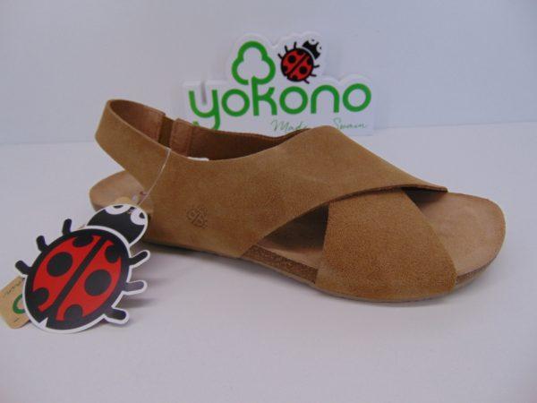 Yokono IBIZA 125 hiszpańskie sandały mostaza żółte
