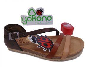 Yokono VILLA 057 hiszpańskie sandały multi mostaza