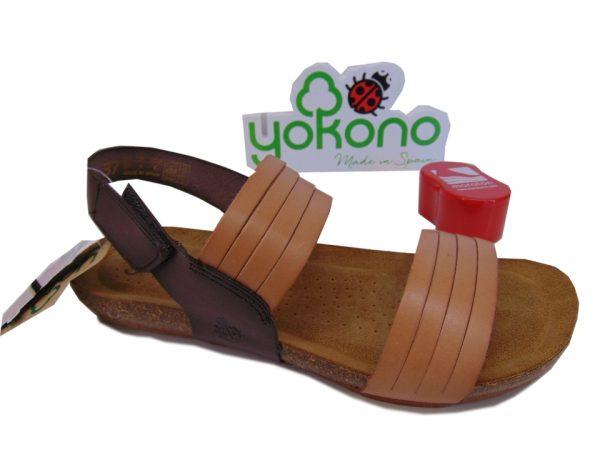 Yokono BEACH 142 hiszpańskie sandała natural marron