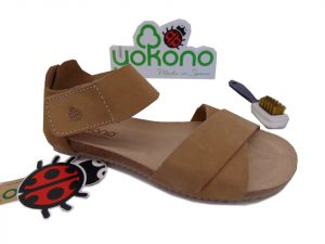 Yokono GENOVA 089 hiszpańskie sandały mushroom/beż