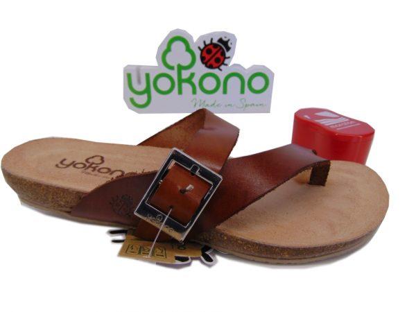 Yokono IBIZA 134 hiszpańskie klapki marron/brąz gad