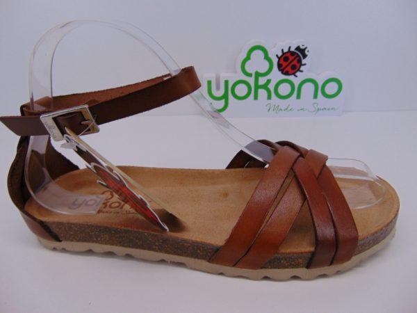 Yokono VILLA 058 hiszpańskie sandały camel/nuez