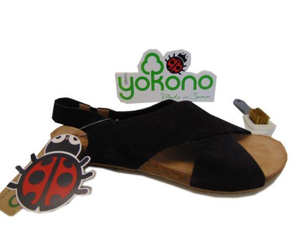 Yokono IBIZA 125 hiszpańskie sandały negro czarne