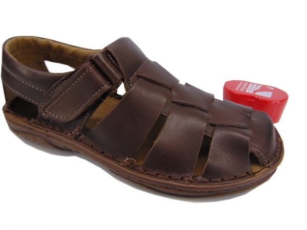 Vinci sandały męskie 201 czarne lico