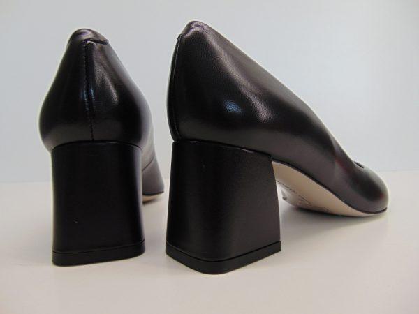 Czółenka Bravo Moda 1891 czarna skóra lico