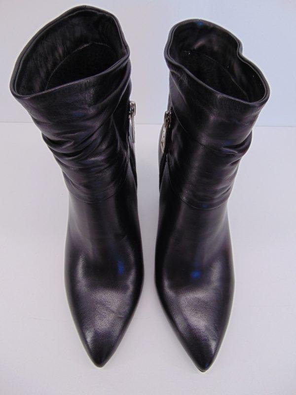 Kowbojki Carinii 5681-H20 skóra welur czarne