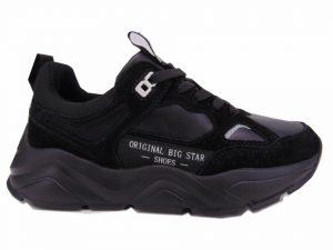 Sneakersy półbuty sportowe Big Star 274654 czarne lico
