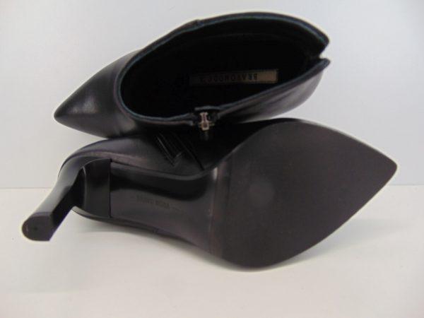 Botki Bravo Moda 2153  skóra lico czarne