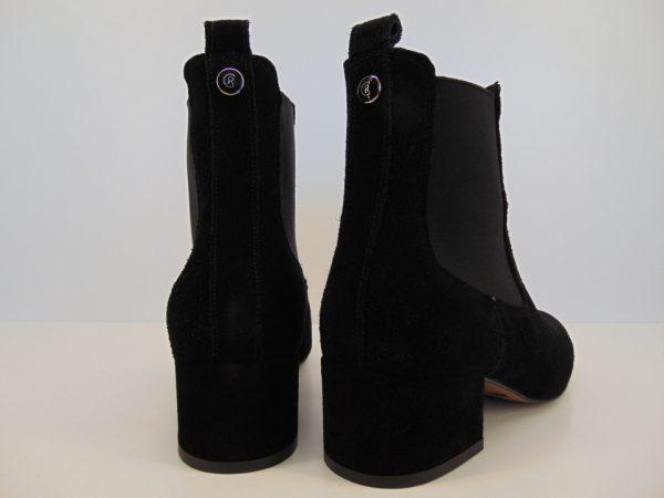 Botki Carinii B5646-H20 skóra zamsz czarny