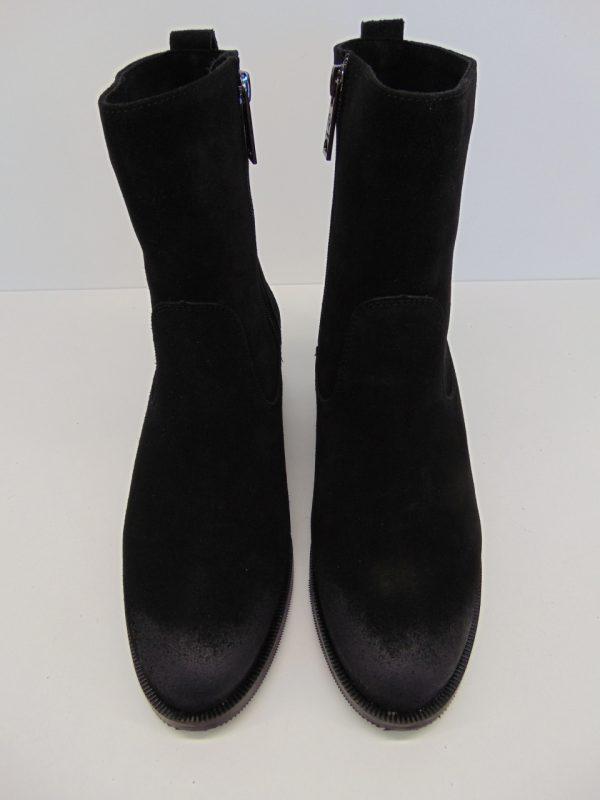 Botki kozaki Carinii B5718-H20 skóra zamsz czarny