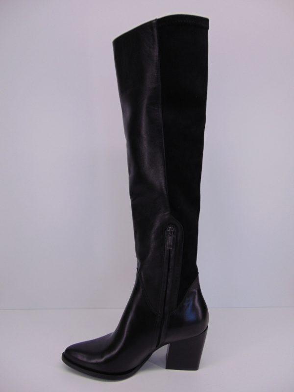 Kozaki Bravo Moda 2202 skóra  czarne
