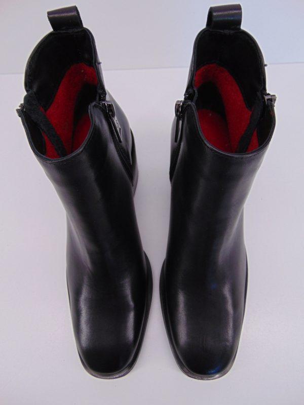 Botki Carinii B5611-E50 skóra lico czarny