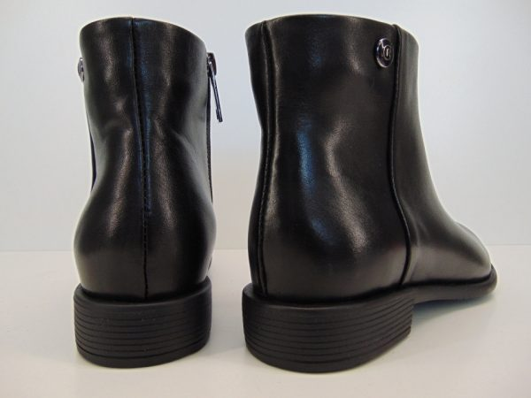 Botki Carinii B5608-HE50 skóra lico czarny
