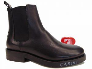 Botki Carinii B5631-E50 skóra lico czarny