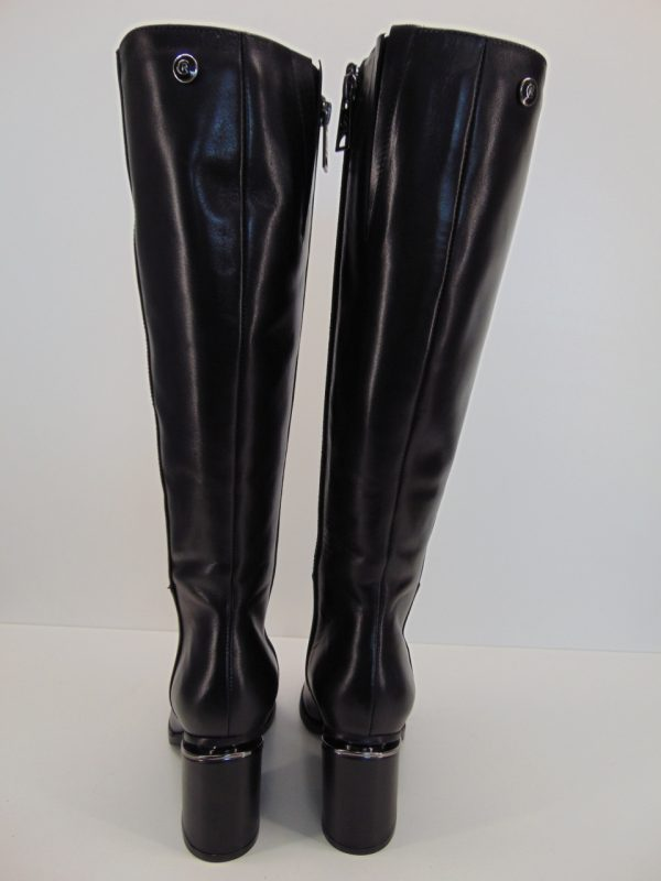 Kozaki Carinii B5734-H20 skóra zamsz czarny