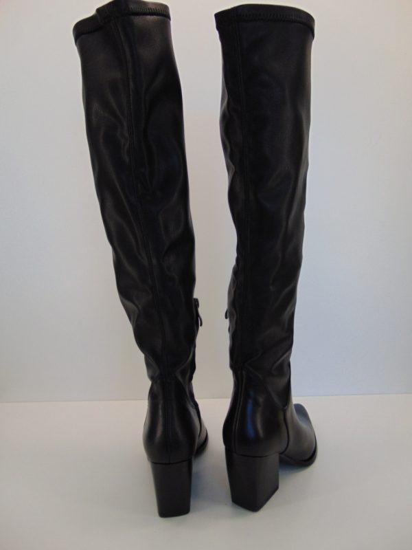 Kozaki Bravo Moda 2215 skóra czarny welur