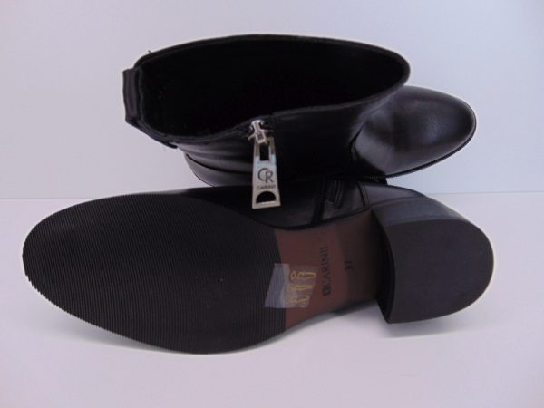 Botki Bravo Moda 2157 skóra zamsz czarne
