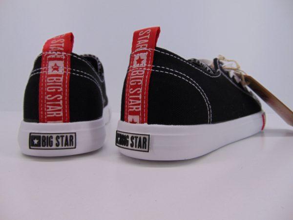 Trampki Big Star FF274085 czarno czerwony
