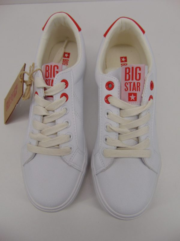 Trampki Big Star BB274210 białe lico