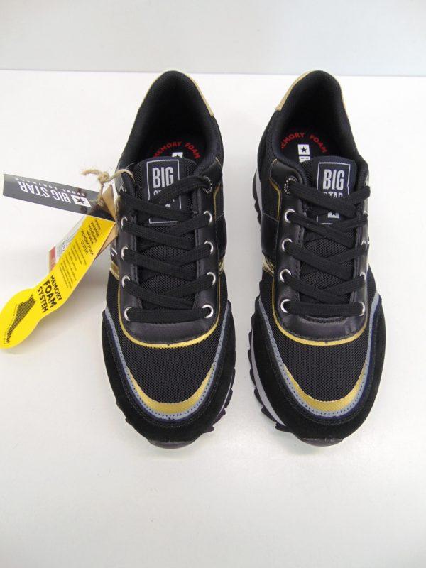 Sneakersy damskie Big Star HH274255 biało fioletowy