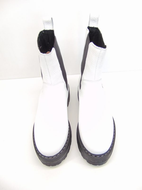 Sztyblety w stylu Combat boots Ryłko 2LVR8 białe