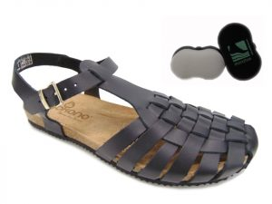 Yokono sandały damskie OASIS 017 VAQUETILLA negro czarne