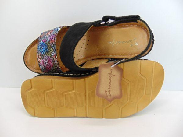 Maciejka sandały damskie 04997 01 czarno beżowy
