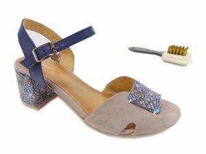 Maciejka sandały damskie 04120 43 beżowo niebieski
