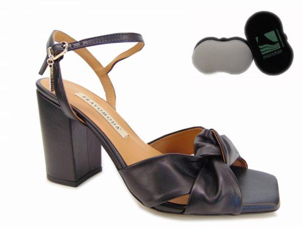 Bravo Moda sandały szpilki 1847 skóra złote