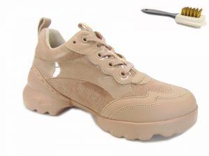 Carinii sneakersy sportowe damskie B7411 beżowe