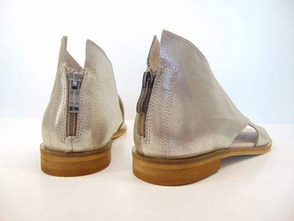Bravo Moda sandały 1993 skóra złoty grid