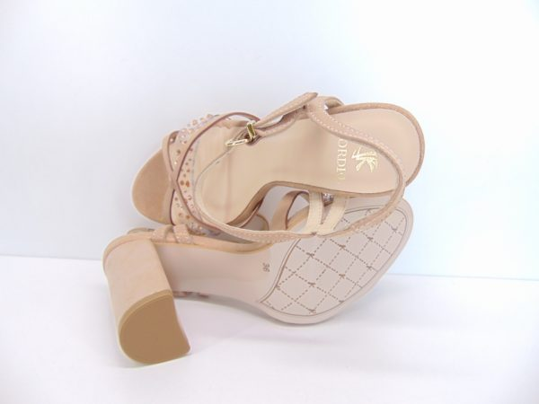 Kordel sandały 2181 skóra róż152