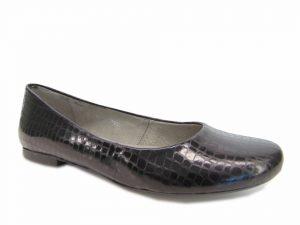 Baleriny Maciejka 00903-51 czarny krokodyl