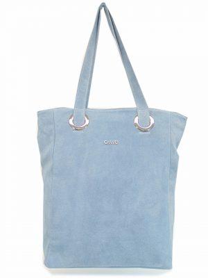 ELIZABET CANARD skórzana torebka j. niebieski