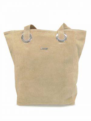 ELIZABET CANARD skórzana torebka beż