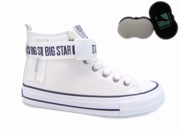 Big Star trampki wysokie ocieplane GG274027 lico biały