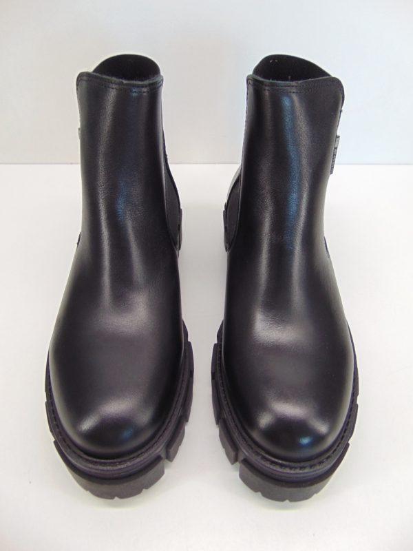 Carinii B7443 workery botki skóra czarny lico
