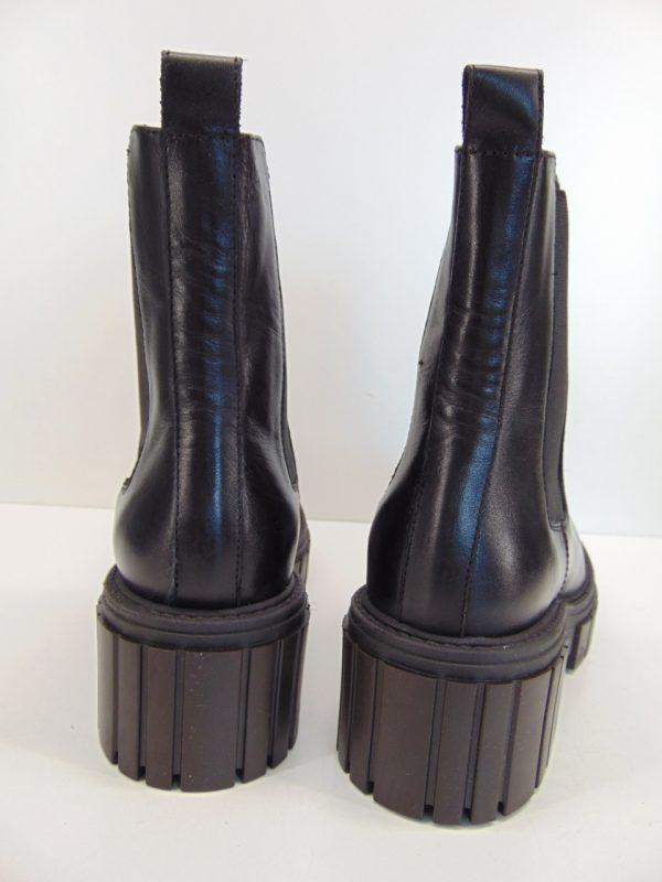 Carinii B7450 workery botki skóra czarny lico
