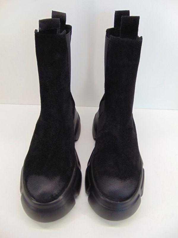 Carinii B7560 workery botki skóra czarne